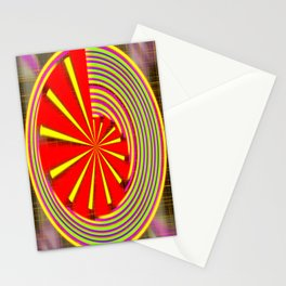 spinning abstraction Stationery Cards
