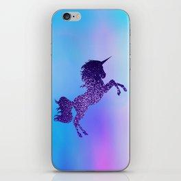 Purple Sparkly Unicorn iPhone Skin