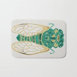 Cicada – Green & Gold Bath Mat