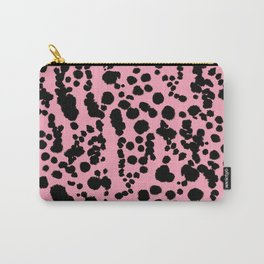 Pink and Black Dalmatian Carry-All Pouch