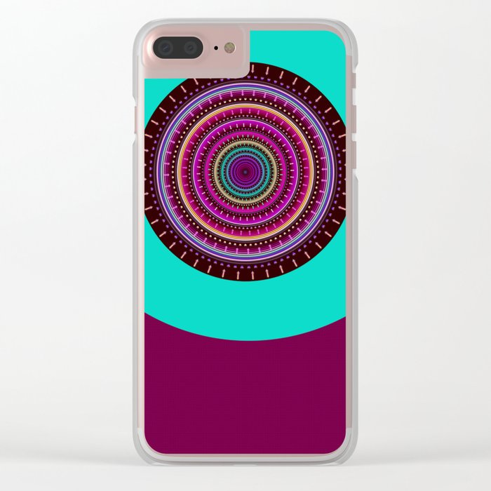 Colorful patterns and textured mandala Clear iPhone Case