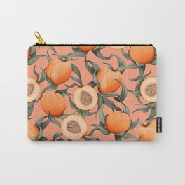 Botanical Peaches pink Carry-All Pouch