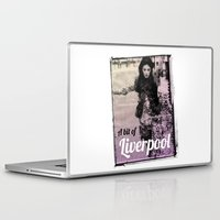 liverpool Laptop & iPad Skins featuring LIVERPOOL by TOO MANY GRAPHIX