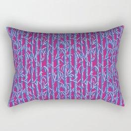 Purple Bamboo Shoots Rectangular Pillow