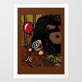 La cage du gorille Art Print