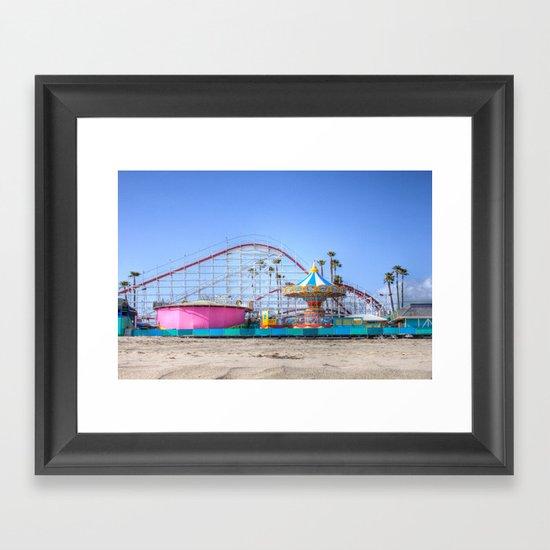 Santa Cruz Summer Framed Art Print