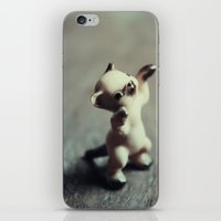 kitten iPhone & iPod Skins featuring Kitten by Lost & Fawned