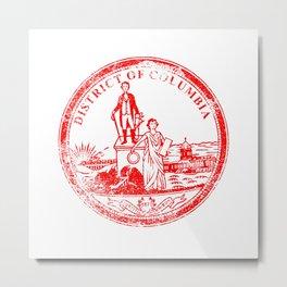 Washington DC Seal Rubber Stamp Metal Print