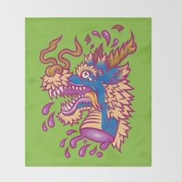 A Dragon's Demise Throw Blanket