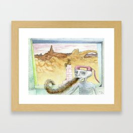 E.T. Comes From A Hairy Planet Framed Art Print
