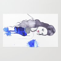 fashion illustration Area & Throw Rugs featuring fashion illustration by RD D