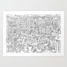 Budapest X Art Print