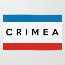 crimea country flag name text Rug