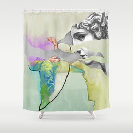 Ghost in the Stone #3 Shower Curtain