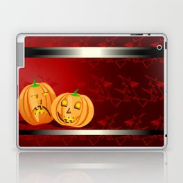 Pumpkins and spooky witches Laptop & iPad Skin