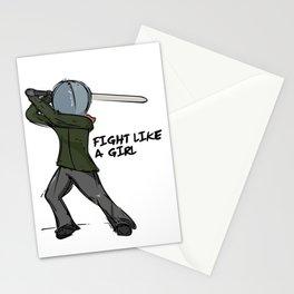 Fight Like a Girl Stationery Cards