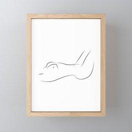 Beguile - Nude Line Art Framed Mini Art Print
