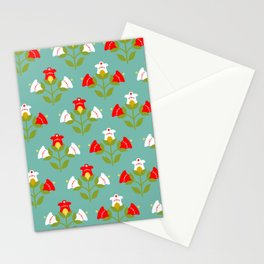 Fresh home decor mint: 70th Lifestyle pattern Stationery Cards