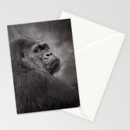 Gorilla. Silverback. BN Stationery Cards