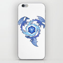 Cool Tabletop Dungeons Gift RPG D20 Dice And Dragons Print iPhone Skin
