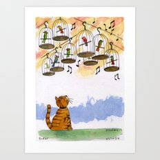 Bird Watching Art Print