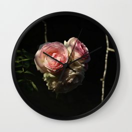 Roof's rose Wall Clock