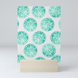 Turquoise Citrus Mini Art Print