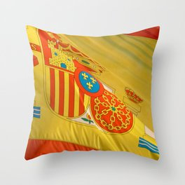 Spain in the focus Throw Pillow
