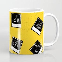 Like My Cat Pics Polaroids Pattern Coffee Mug