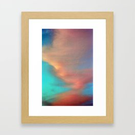 Pink and Blue Framed Art Print
