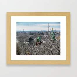 Frozen Portland, Maine (1) Framed Art Print