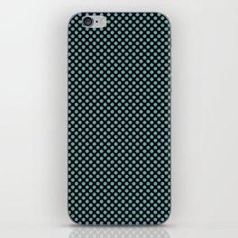 Black and Aqua Sea Polka Dots iPhone Skin