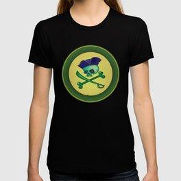 green pirate skull T-shirt