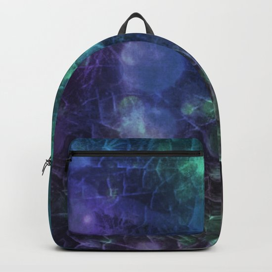 Purple,  Green and Blue Backpack