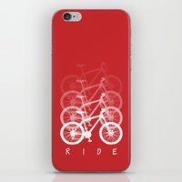 bikes iPhone & iPod Skins featuring Bikes by ClicheZero
