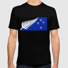 NZ flag (that nearly made it) 2016 Mens Fitted Tee Black MEDIUM