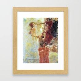 Gustav Klimt Composition for Medicine Framed Art Print