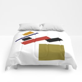 Geometric Abstract Malevic #4 Comforters