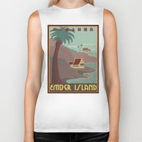 travel poster Biker Tanks featuring Ember Island Travel Poster by HenryConradTaylor