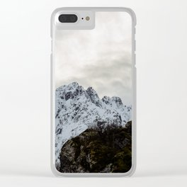 Vintage Mountain 30 Clear iPhone Case