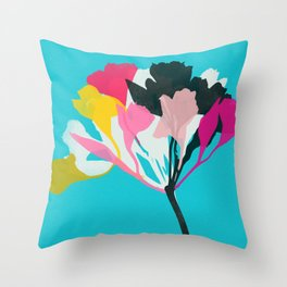 alstroemeria 1 Throw Pillow