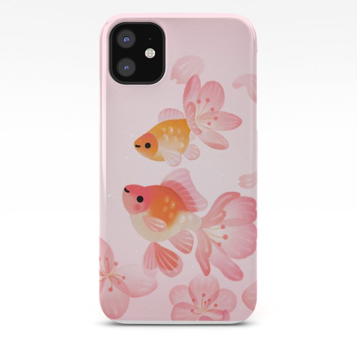 Cherry Blossom Goldfish Iphone Case By Pikaole