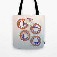 starwars Tote Bags featuring StarWars BB8 by Joshua A. Biron
