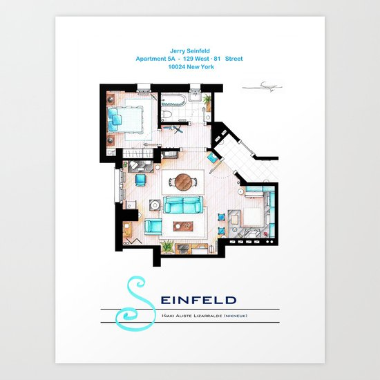 Jerry Seinfeld Apartment v2 Art Print