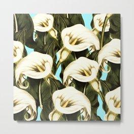 Pattern floral Ethiopian-Calla Metal Print