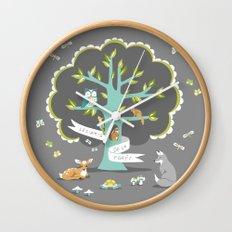 Les Amis - Dusk Wall Clock