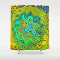 roald dahl Shower Curtains featuring Wonky by Geni
