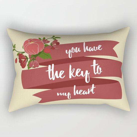 Key to my heart Rectangular Pillow