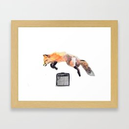 Fox Trot Blues Framed Art Print