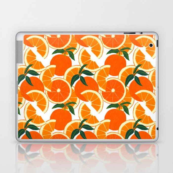 Orange Harvest - White Laptop & iPad Skin